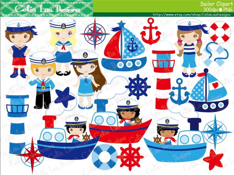 Teddy clipart nautical #5