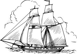 Sailboat clipart schooner #6