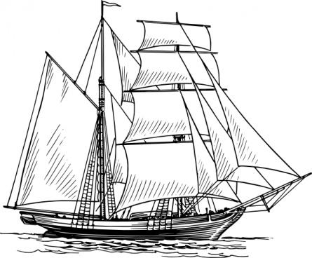 Sailboat clipart schooner #4