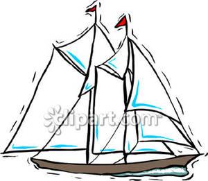 Sailboat clipart schooner #10