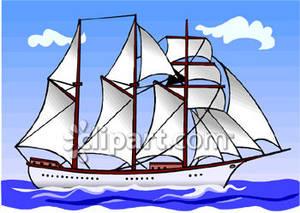 Sailboat clipart schooner #1