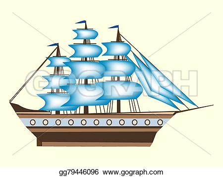 Sailboat clipart sea transport EPS gg79446096 EPS retro travel