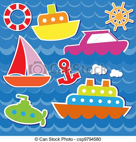 Sailboat clipart sea transport Marine csp9794580 Vector  transport