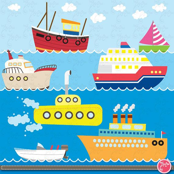 Sailboat clipart sea transport Commercial and Transportation about Cards