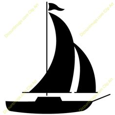 Sailing Ship clipart silhouette Boat Sizes SuperiorStencils SAILBOAT mouse
