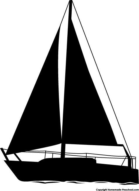 Sailing Ship clipart silhouette And  Silhouette Clipart Sailboat