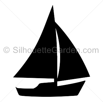 Sailboat clipart two Sailboat Silhouette Silhouette