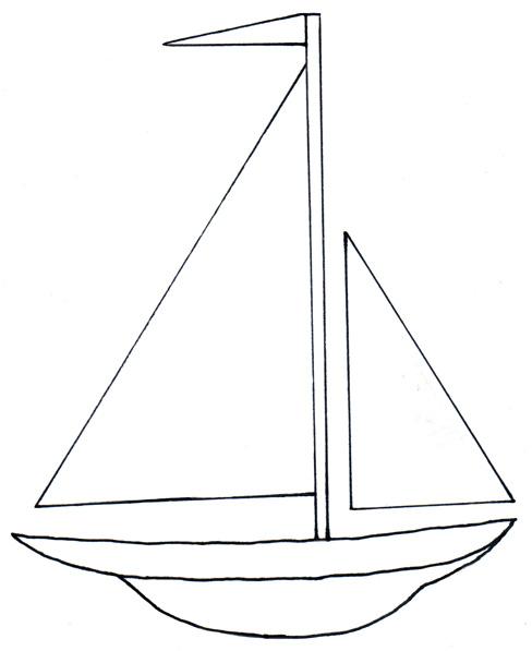 Simple clipart sailboat Back Simple For Peinture Simple