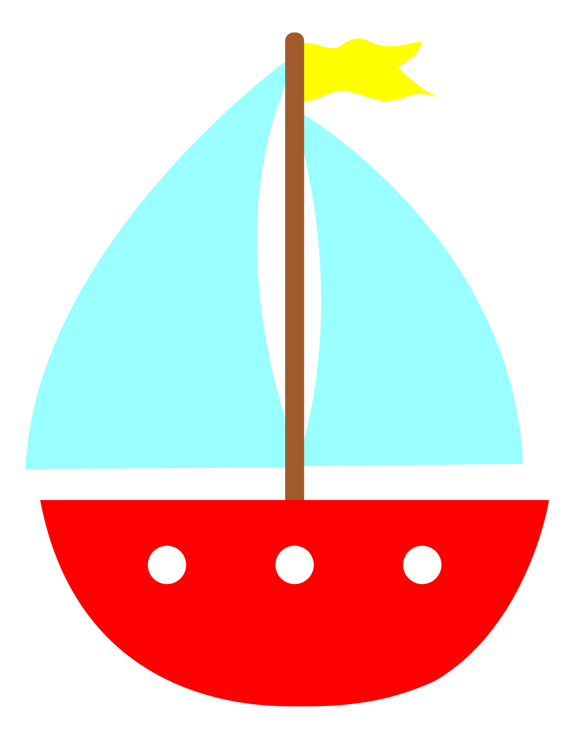 Simple clipart boat #1