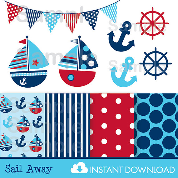 Sailing clipart nautical #10