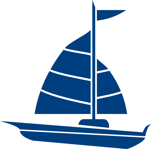 Sailing clipart blue sailboat Art Download Boat Free Free