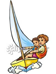 Sailboat clipart two Sailboat Boat Boys a and