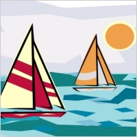 Sailboat clipart two Clipart Clipart sunset%20clipart Sailboat Free