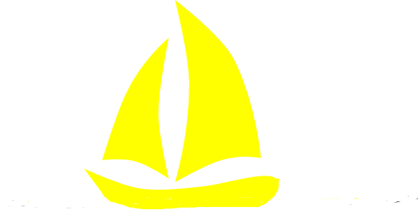Yellow clipart sailboat Image vector clip online Sailboat