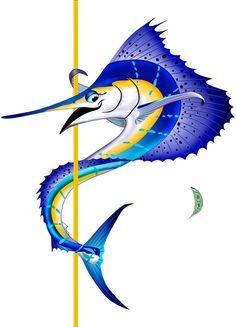 Sailfish clipart blue marlin #3