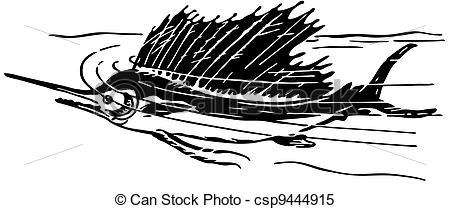 Sailfish clipart drawing #8