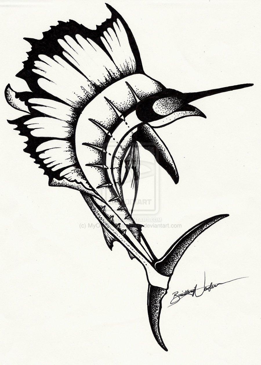 Sailfish clipart drawing #4