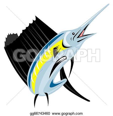 Sailfish clipart drawing #7