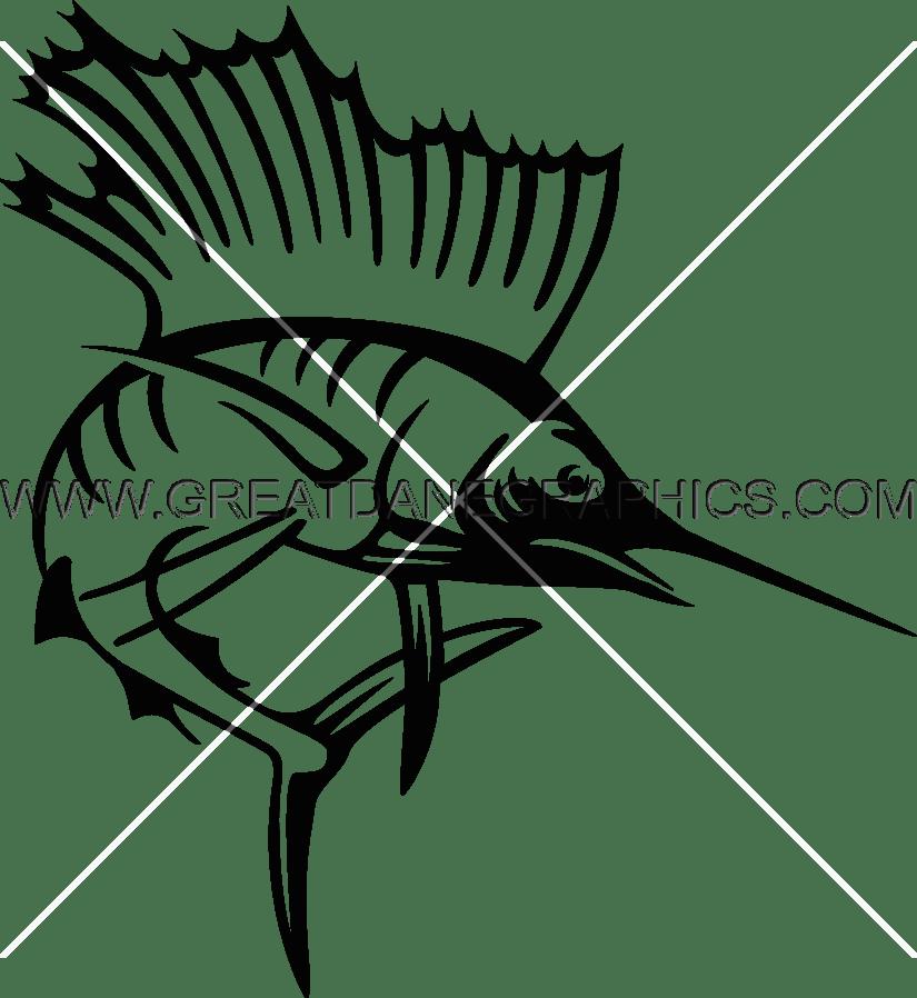 Sailfish clipart drawing #3