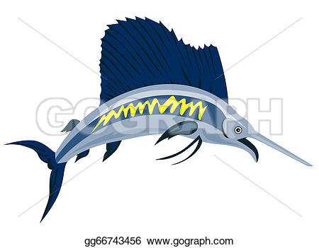 Sailfish clipart drawing #2
