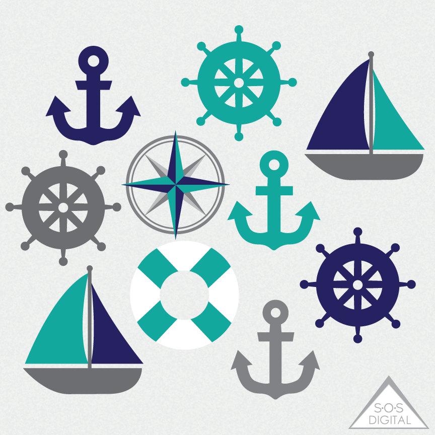 Sailing clipart navy blue #15