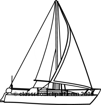 Sailing Boat clipart black and white Sail Ship Clipart  And