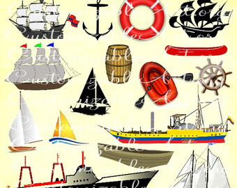 Sailboat clipart yatch Ship Ship Sail Sailing Etsy