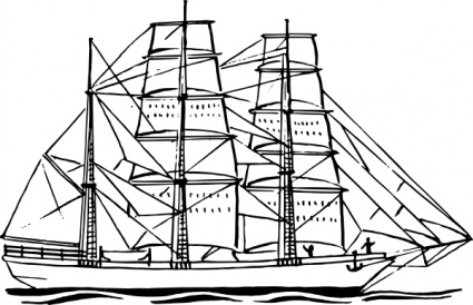 Sailing Boat clipart clipper ship Ship Clip Free Images on
