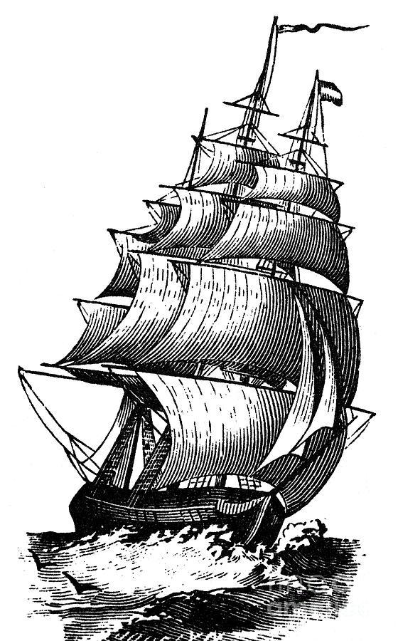 Sailing Boat clipart clipper ship #9