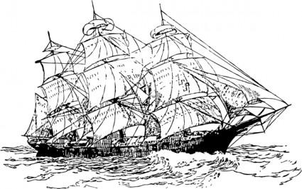 Sailing Boat clipart clipper ship #5