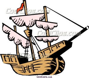Sailing Boat clipart columbus ship Christopher ship Clip Columbus' Art