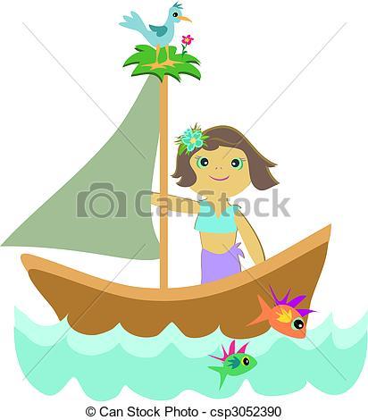 Sailing Boat clipart cute #15