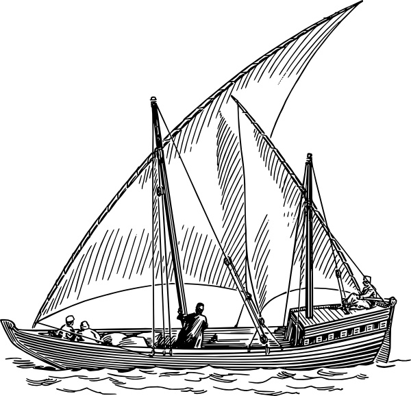 Sailboat clipart boating #7