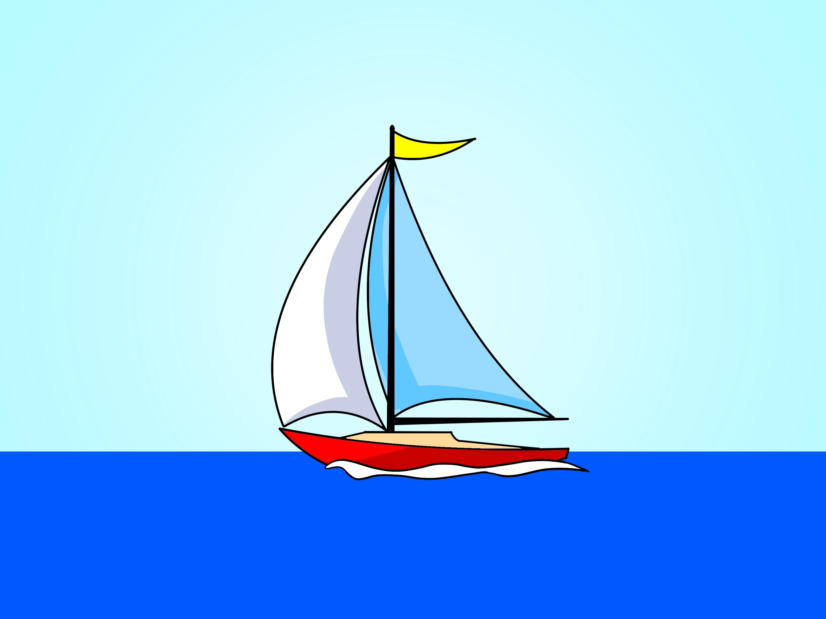 Sailboat clipart dinghy #12