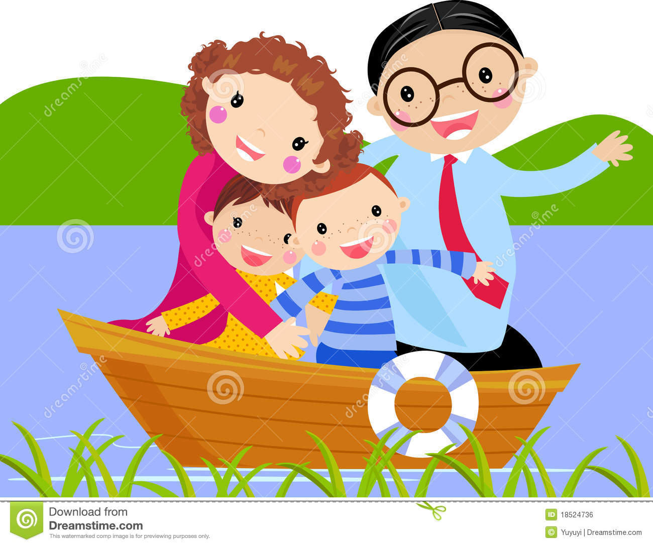 Sailing Boat clipart family boating Family Clipart cliparts Boating Boating