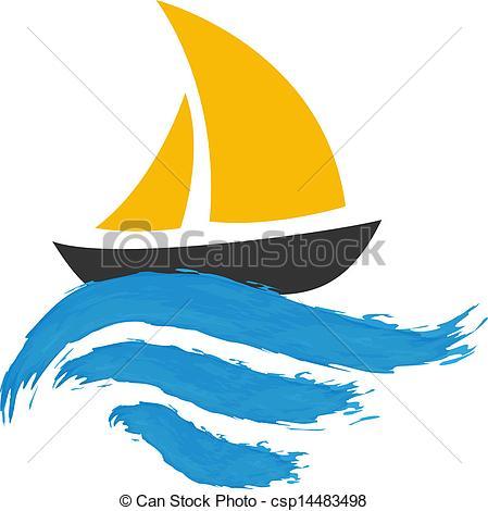 Sailing Ship clipart blue sailboat The Vectors water Sailing