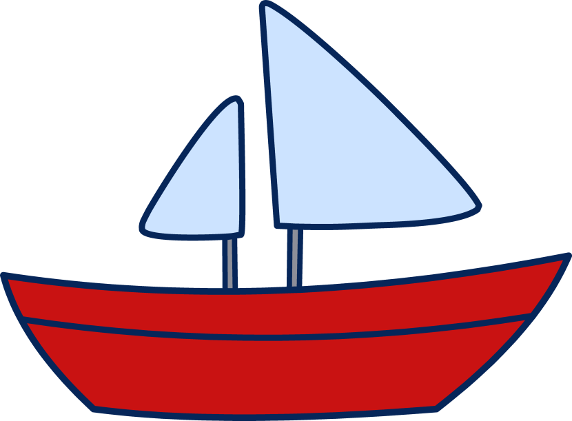 Simple clipart boat #2