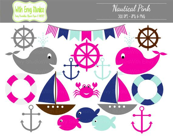 Pink clipart nautical Best Sailor Blue Pink 442