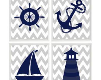 Lighhouse clipart navy blue #1