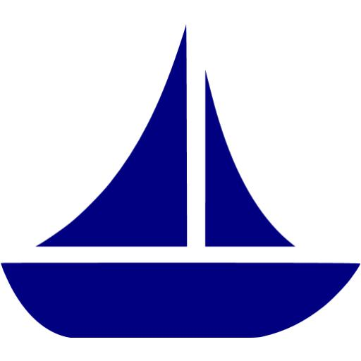 Sailing Boat clipart navy blue Blue icon Navy Navy 10