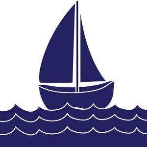 Sailing Boat clipart navy blue A Sailboat sailing Clip boat