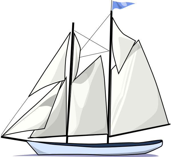 Sailing clipart outline Download Boat Clker at Sail