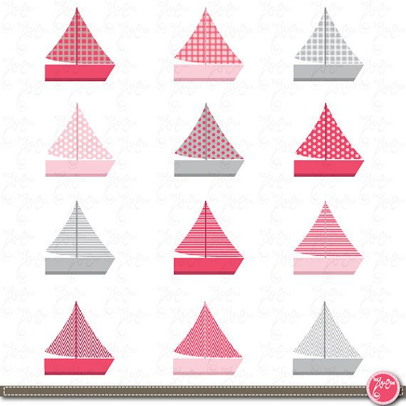 Pink clipart sailboat On Pinterest 00 YenzArtHaut Baby