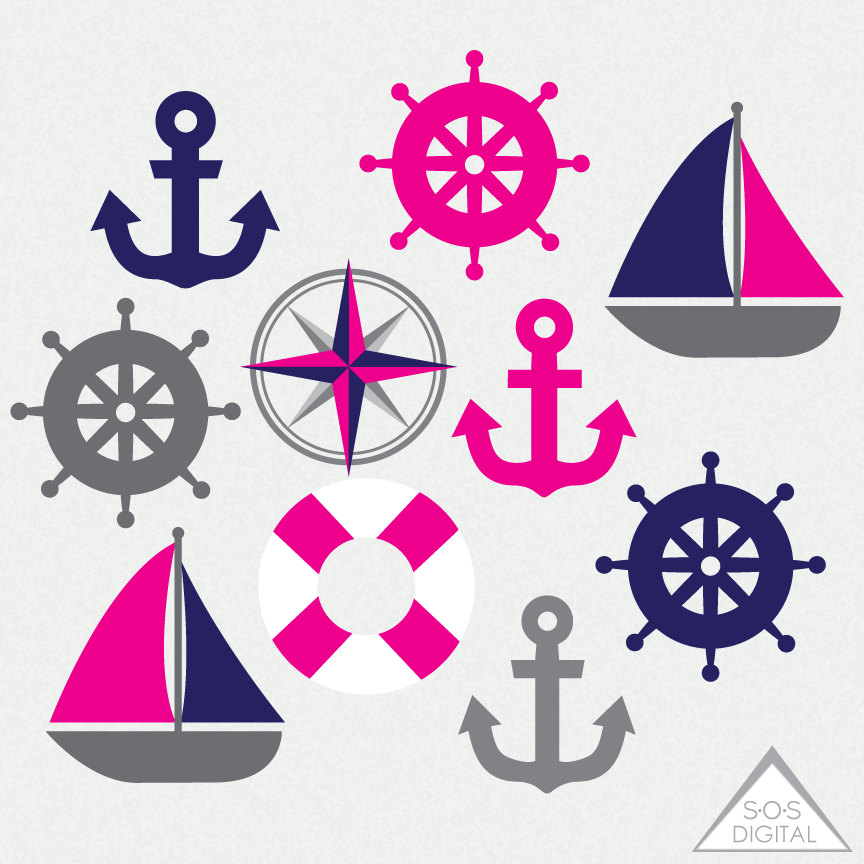 Pink clipart sailboat Clipart Navy Boat Clipart and