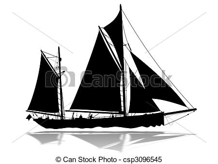 Sailing Ship clipart silhouette Sailing royalty Clip and