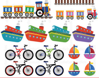 Bike clipart transportation vehicle Art Clipart Transport Clip Trains