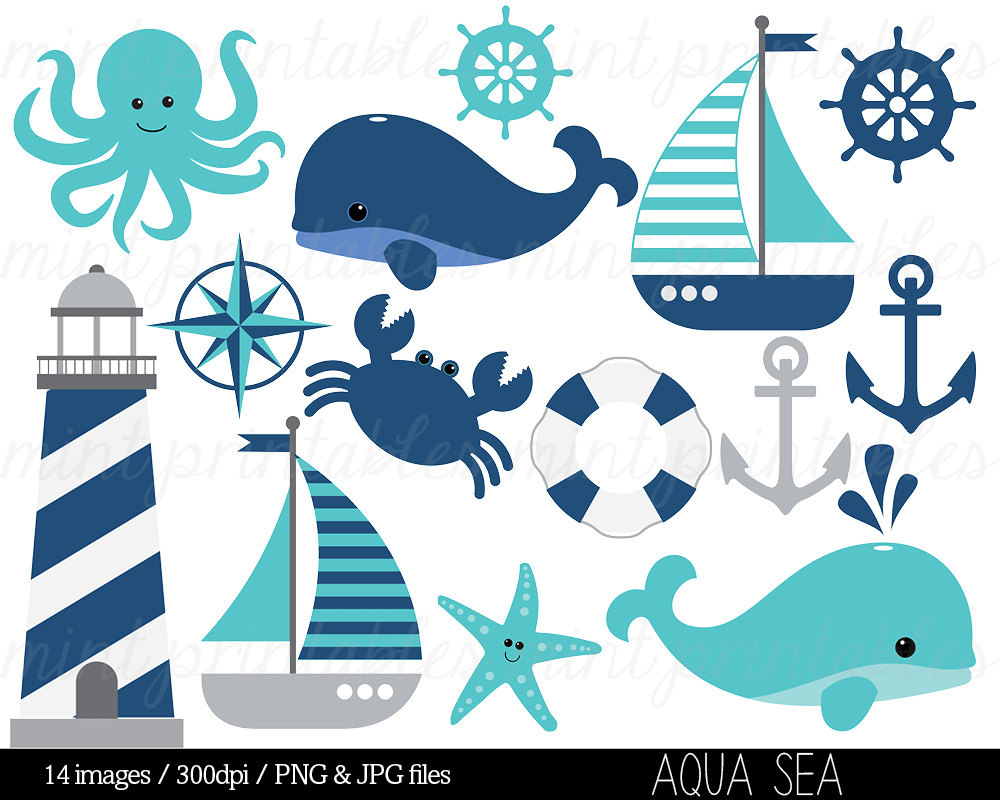 Blue Whale clipart blue starfish 1 grey BUY Clipart Clipart