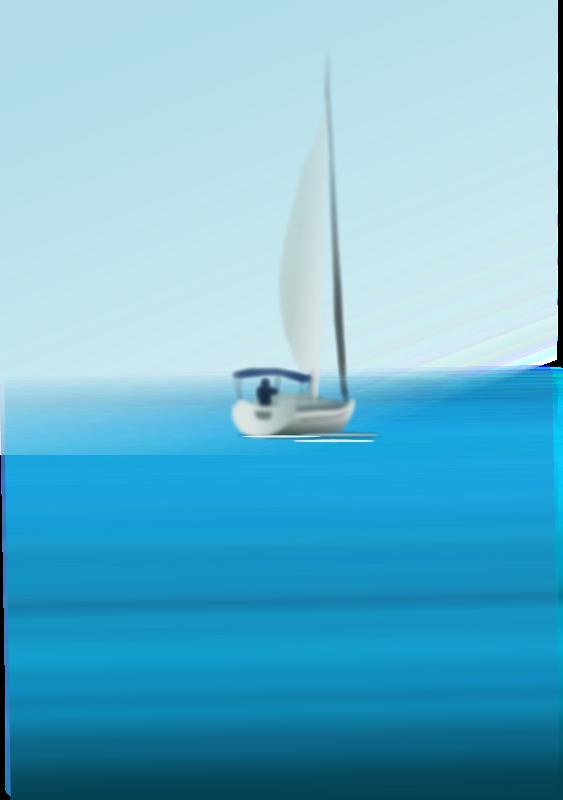Sailing Boat clipart the sea clipart Art At Sea Clip Boat
