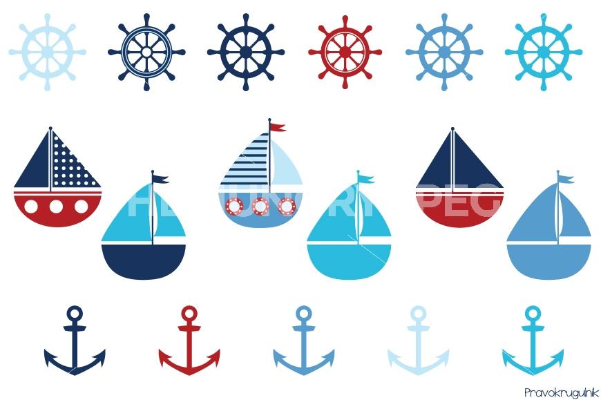 Sailing Boat clipart themed Art boats by sea Boy