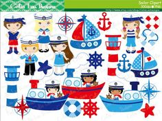 Sailing Boat clipart themed Anchor Nautical Light Clipart Download